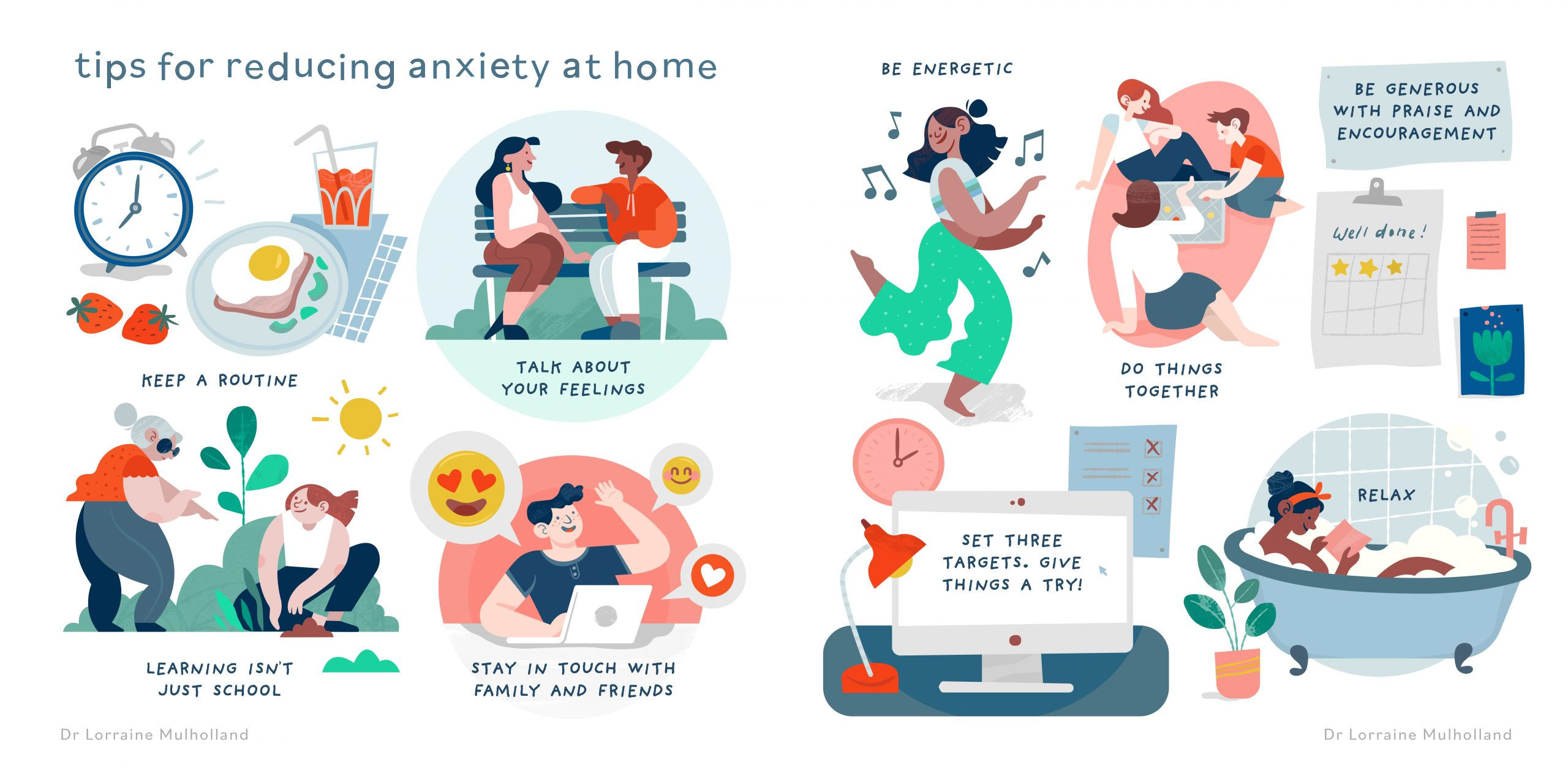 Tips for reducing anxiety at home